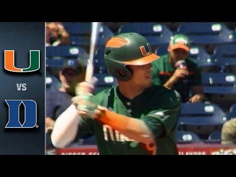 Miami vs. Duke Baseball Highlights (April 17, 2016)