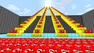 Minecraft: LUCKY BLOCKS RED STAIRCASE RACE MINI-GAME! (PVP Challenge)