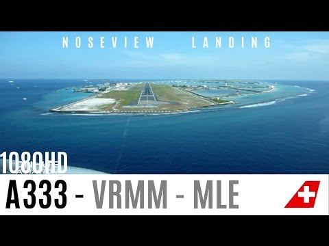 Cockpitview Landing of the SWISS A330 in the Maledives. Sound : Edited due to company regulations and my deal with my employer, SWISS INTERNATIONAL. Route: LSZH - VRMM Highlights from the...