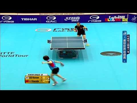 2015 Kuwait Open Ws-QF: LI Xiaoxia - SEO Hyowon [HD] [Full Match/Chinese]