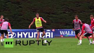 France: Bale and Wales squad train in Dinard ahead of Euro 2016