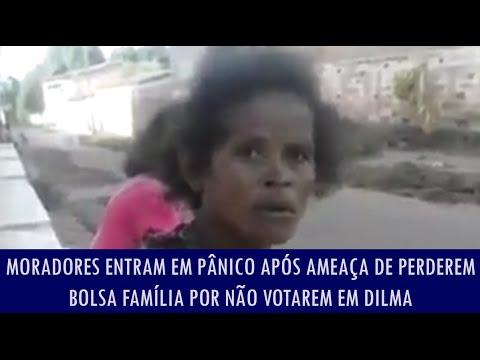 Moradores entram em pânico após ameaça de perderem bolsa família por não votarem em Dilma