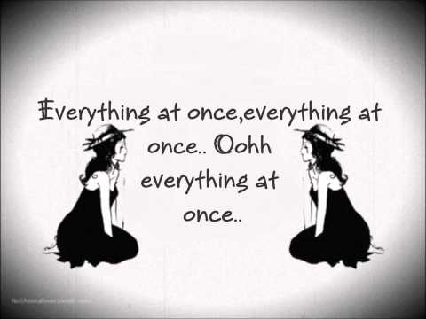 Everything At Once - Lenka [lyrics] video