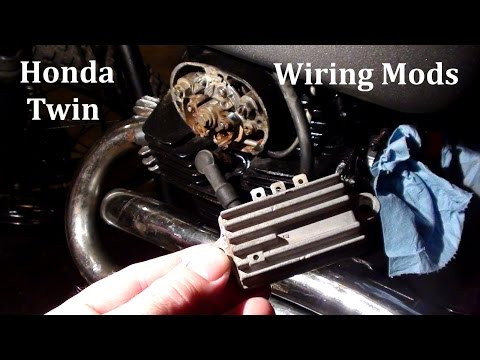 Honda Twin Wiring Mods - Rectifier and Regulator - Project Bike Pt 4