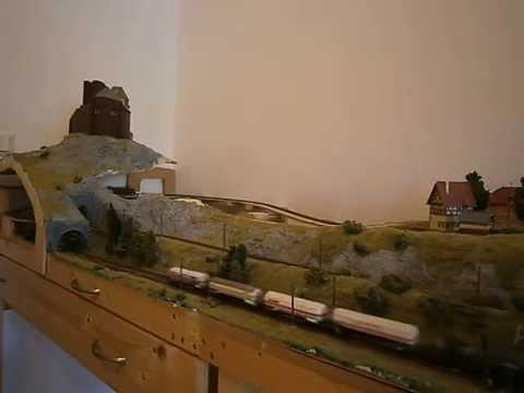 Treinverkeer op modelbaan Rothenburg