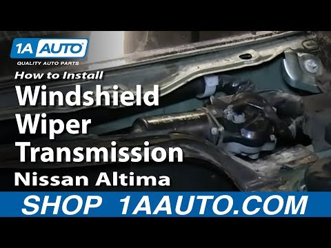 How To Install Replace Windshield Wiper Transmission 2002-06 Nissan Altima