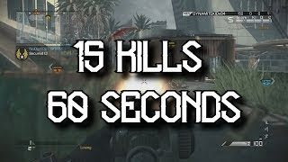 15 Kills In 60 Seconds (Call Of Duty Ghosts)