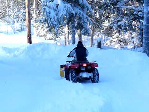 More Snow Plowing with the Suzuki 4 Wheeler ATV - Country Plow