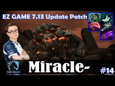 Miracle - Tiny MID   EZ GAME 7.13 Update Patch   Dota 2 Pro MMR Gameplay #14