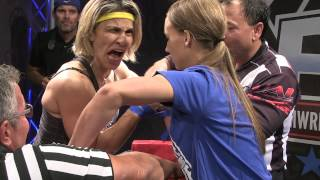 Ultimate Armwrestling League  Crhis de Souza vs Michelle Smart