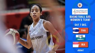 BASKETBALL SEAGAMES 2019 (WOMENS) THAILAND VS INDONESIA  07 December 2019