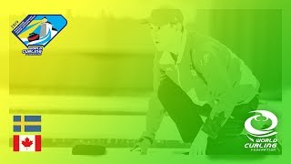 Sweden v Canada - Men's Round-robin - World Junior Curling Championships 2019