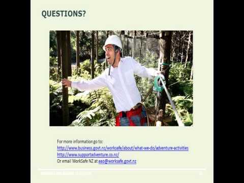 New Zealand Adventure Activities Certification Scheme 22Aug2014