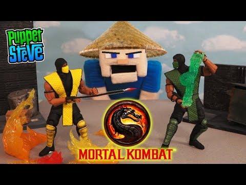 Mortal Kombat Scorpion vs Reptile Figures Stop Motion Battle Unboxing Storm Collectables PIXEL PALS