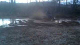 yamaha raptor 350 in the mud