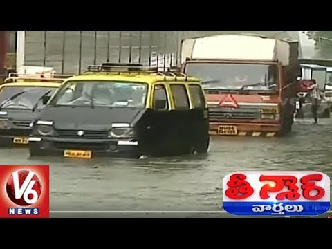 Heavy Rains Lash Mumbai City | Trains Running Late, Traffic Jam | Teenmaar News | V6 News