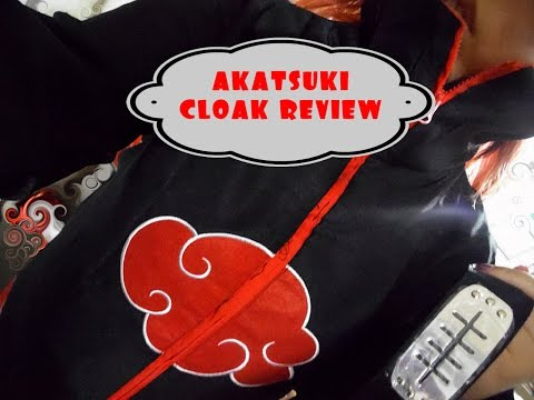 BECOMING AN AKATSUKI - Akatsuki Cloak Cosplay unboxing & review!!