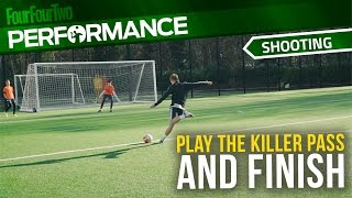 Soccer shooting exercise | Play the killer pass and finish drill | Swansea City Academy