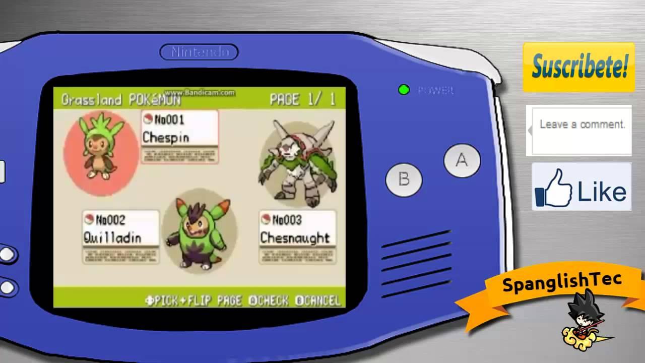 Pokemons Gba Lista Pokemon xy Gba Descarga