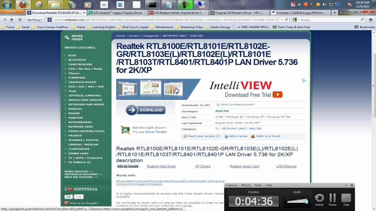 Realtek lan driver windows 2003 server