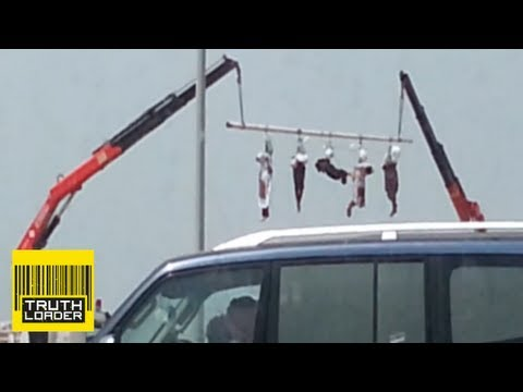 Saudi Arabia Executes Five Men And Hangs Their Bodies From A Crane - Truthloader video