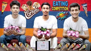 18 Cornetto Ice Cream Eating Challenge | Cornetto Ice Cream Eating Competition | Food Challenge