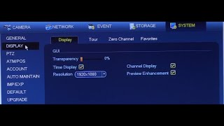 Change Display Resolution from Your DVR