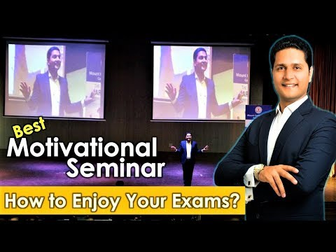 Motivational Seminar for Students in Hindi on ENJOY YOUR EXAMS & STUDY Tips by Parikshit Jobanputra