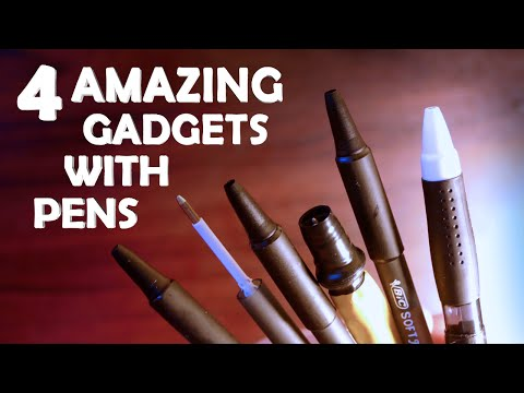 4 Amazing Gadgets To Make With Pens! - Cool Spy Pen Gadgets!!!