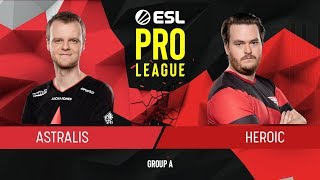 CS:GO - Astralis vs. Heroic [Vertigo] Map 1 - Group A - ESL Pro League Season 9