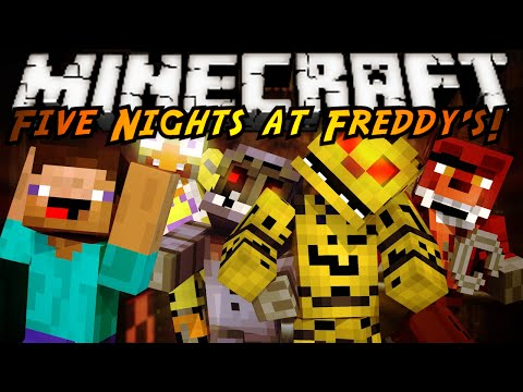 Minecraft Mod Showcase : FIVE NIGHTS AT FREDDY'S 2 MOD!