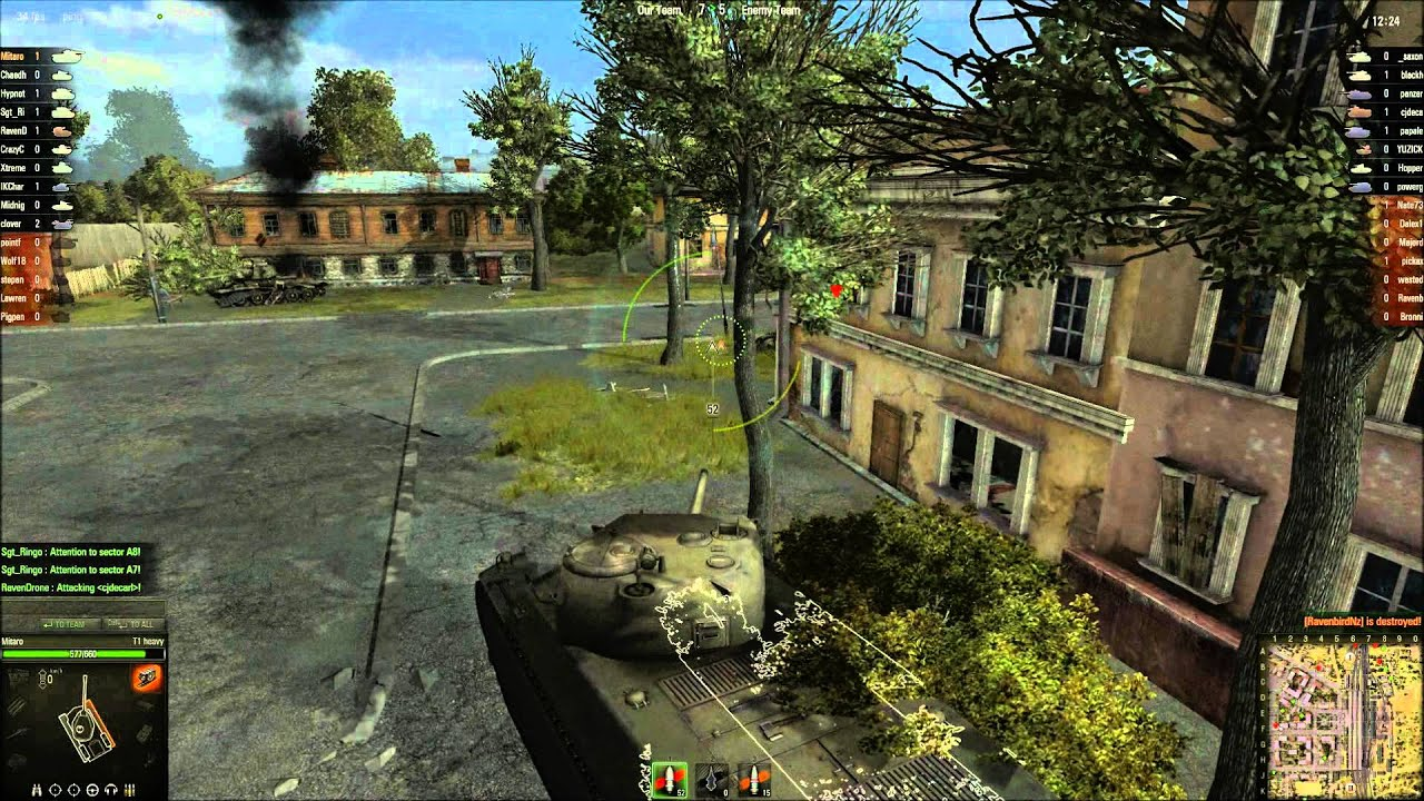 World Of Tanks Game Play Max Graphics T1 Heavy Hd