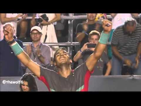 Rafael Nadal VS Alexandr Dolgopolov - Rio Open 2014 - Championship point - 23-2-2014