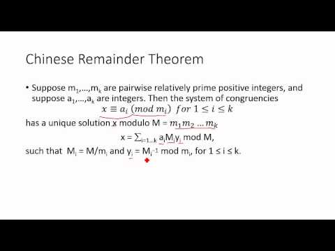 the history of the chinese remainder theorem The chinese remainder theorem  for some notes on the history and the reason it was named the chinese theorem refer to wikipedia.