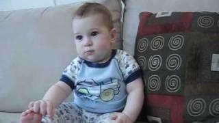Baby Wasim Watching Baba Telephone Video