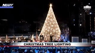 LIGHTING THE HOLIDAY TREE: President Trump gets into Christmas spirit at WH