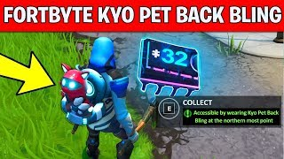 ACCESSIBLE BY WEARING KYO PET BACK BLING AT THE NORTHERN MOST POINT - Fortnite Fortbyte #32 Location