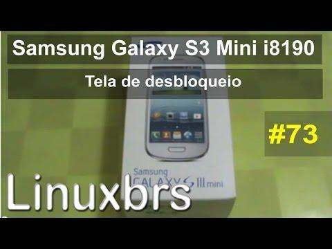 Samsung Glaxy S3 MIni i8190 - Review - Mudança na tela de desbloqueio - PT-BR
