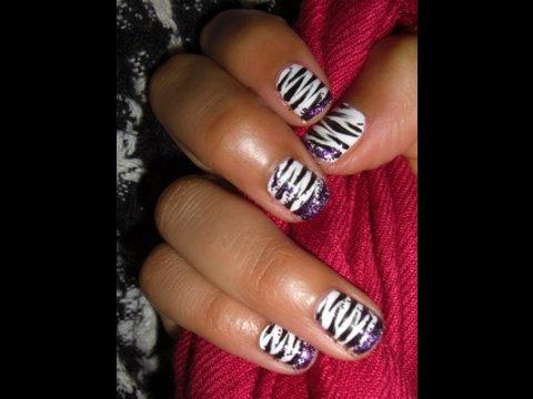 $5: Zebra Print Nails!