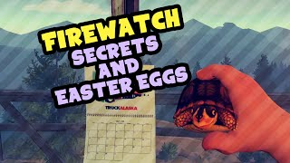 Firewatch - Secrets and Easter Eggs - Turtles, Pork Pond, Raccoons and more!