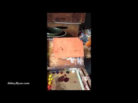 ABBEY RYAN - (LIVE) Golden Series: Two Pears with Four Strawberries - Oil Painting Demo