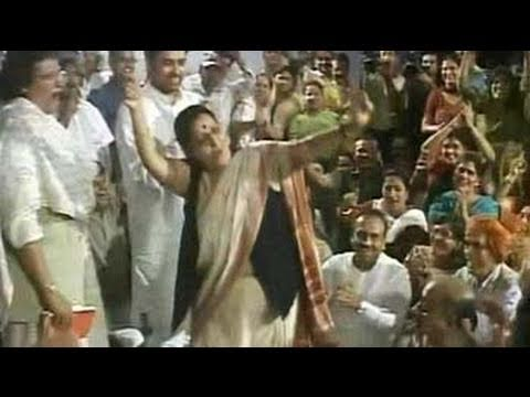 Sushma Sawraj danced in protest