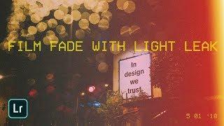 Free Film fade presets with Light leak for Lightroom mobile