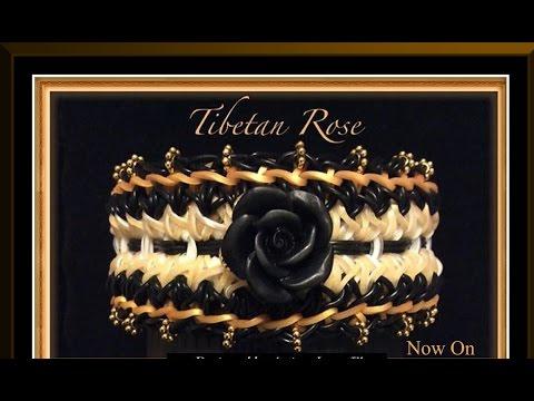 Rainbow Loom Band Tibetan Rose Bracelet Tutorial/How To