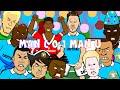 Manchester City vs Manchester United 0-1 2016 (Marcus Rashford goal Cartoon Highlights Demichelis)