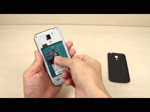 How to insert and remove the Micro SD card on Samsung Galaxy S4 mini