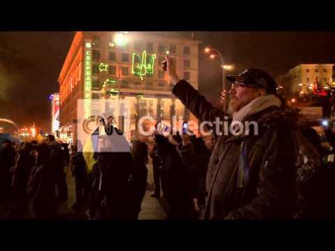 UKRAINE: PROTESTS CONTINUE THROUGH THE NIGHT