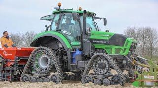 Deutz Fahr Agrotron 7250 TTV on Soucy Tracks | Planting onions | Uien planten