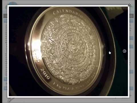 2011 Aztec Calendar 1 KILO Silver Mexico coin NEW w/box and COA