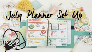 July Planner Set Up-Cocoa Daisy | OhSoFawn